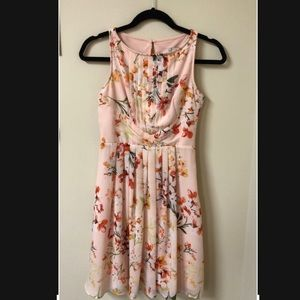 light pink floral dress